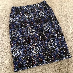Lularoe Paisley Cassie Pencil Skirt